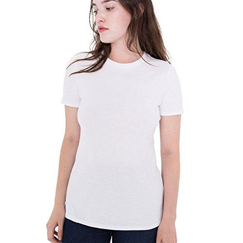 Taping Côtelé Durable shirt Renforcée Pull Àépaule Femmes Rond Apparel T Classique American Fin Col Blanc over Encolure w6xnUgqzF