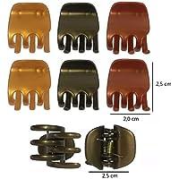 12 Piranhas Pequenas Tons de Bronze Prendedor Para Cabelo