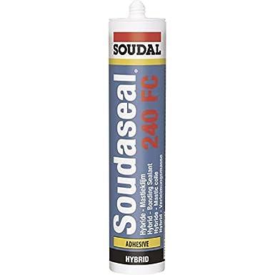 Soudal 105027'Soudaseal 240 FC' Hybrid Polymer Sealant/Adhesive, Grey, 290 ml