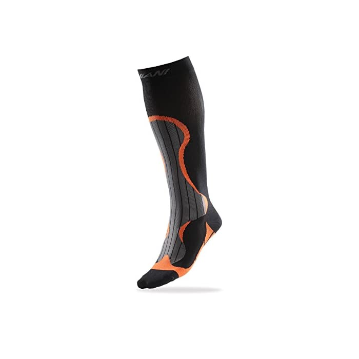 VeloChampion Calcetines Compresión Deporte – Ciclismo, Running, Triatlón (Negro) Compression Sports Socks – Black – For Running, Cycling, Triathlon