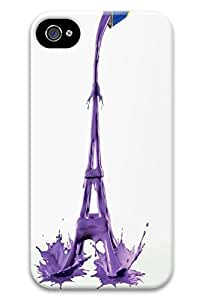 Online Designs Eiffel Tower purple paint PC Hard new Durable case for iphone 4 4s