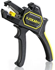 Jokari 20100 Ergonomic Secura Soft Grip Automatic Wire Stripper for Wires from 0.2mm-6mm, 20cm L x 16.5cm W x 2.8cm H