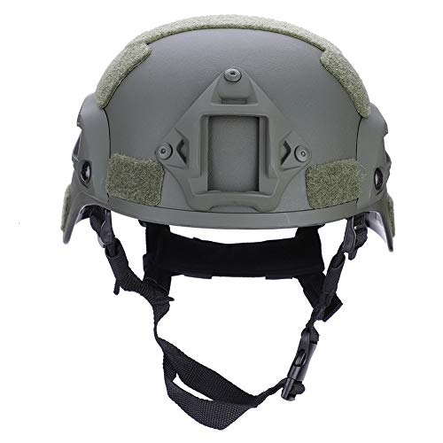 Vbestlife Adult Tactical Helmet, Durable Composites ABS Adjustable Hanging Tactics Game Riding Lightweight Airsoft Tactical Military Helmet for Combat, Hunting, Airsoft Protective (Military Green)