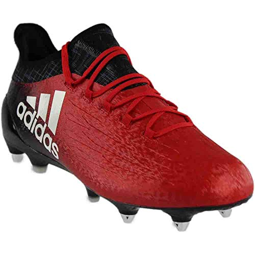 adidas Mens X 16.1 SG Soccer Athletic Cleats Red;White 7.5