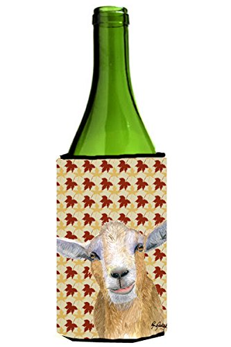 Fall Leaves Goat Wine Bottle Beverage Insulator Beverage Insulator Hugger  RDR3027LITERK