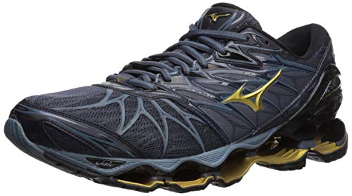 Mizuno Wave Prophecy 7 Men's Running Shoes, Black/Ombre Blue, 10.5 D US