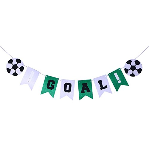 Soccer Party Banner Goal Party Banner Sports Party Decorations Festive Soccer Letter Banner Party -