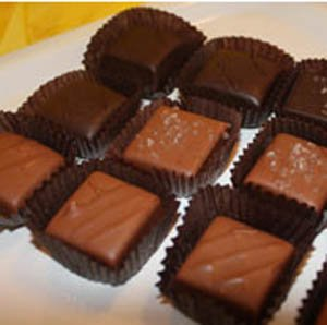 Caramels Assorted in a 12 Piece Gift Box by Sweet Mona's Chocolates