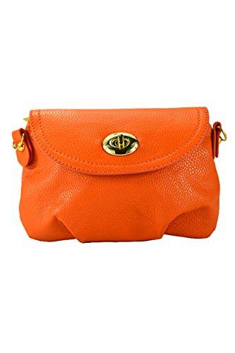 SODIAL(R) Borsa a tracolla della borsa della borsa della borsa del messaggero delle donne borsa-arancia