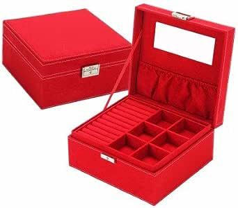 lzzfw Caja de regalo de Navidad Caja de regalo de Navidad Cerradura de dos pisos con caja de almacenamiento de joyas de gran capacidad: Amazon.es: Hogar