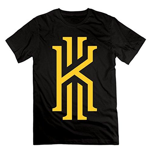 SANHUI Mens 2# Basketball Player Kyrie K Irving Casual Short Sleeve O-Neck Black T Shirts (M)