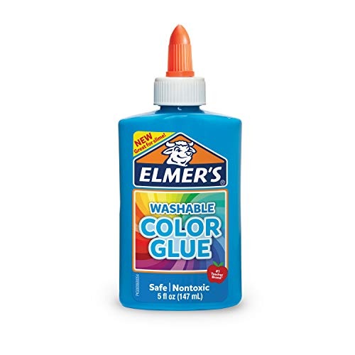 Elmer's Washable Color Glue, Blue, 5 Ounces, Great for Making Slime
