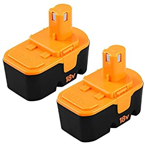3600mAh for Ryobi 18v Battery Replacement P100 P101 ONE+ ABP1801 Cordless Power Tools 18 Volt Batteries (2-Packs)