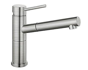 Blanco Alta S Compact Küchenarmatur / Kompakter Einhebelmischer In Edelstahl  Gebürstet Mit Ausziehbarer Schlauchbrause /
