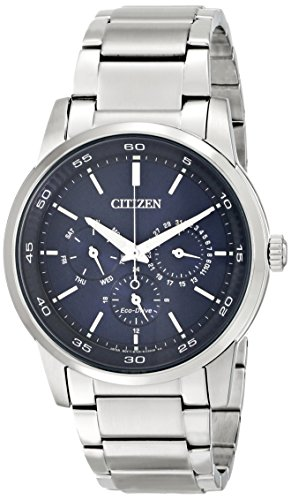 Citizen Eco-Drive Men's BU2010-57L Dress Analog Display Silver Watch