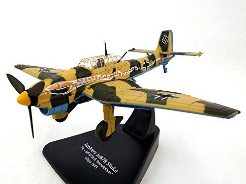 Dive Stuka Ju Bomber 87 - Junkers Ju-87 Stuka German Dive Bomber - Libya 1941 - 1/72 Scale Diecast Metal