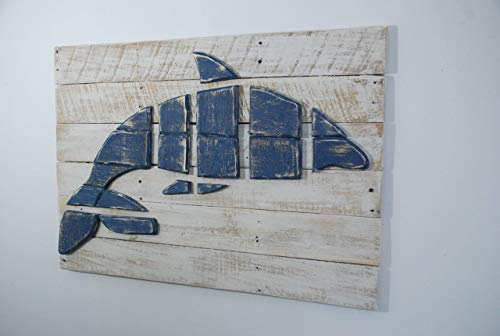 Wood Dolphin Picture Wall Art Distressed Dolphin Picture Coastal or Beach Decor Dolphin Gift