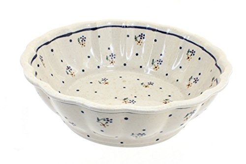 Polish Pottery Country Meadow Large Scalloped Bowl