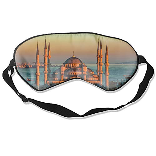 - Sultan Ahmed Mosque Turkey Istanbul Sunrise Sleep Eye Mask for Sleeping Contoured Eyemask Silk Best Night Blinder Eyeshade for Men Women Kids