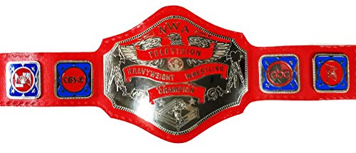 EasyBuyingShop NWA TV Television Heavyweight Wrestling Title Replica Championship Belt - Brass Metal 4mm Plates