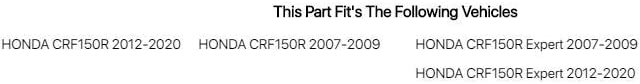 1339140066 Tusk Engine Oil Seal Kit 2007-2017 Honda CRF150R /& CRF150RB Expert
