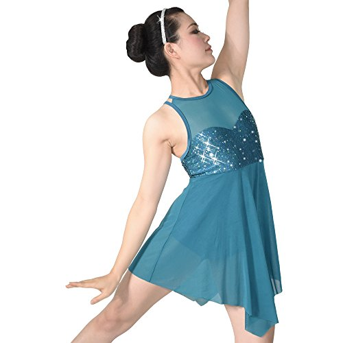 [MiDee Stage Dance Costume Dress for Children and Adults 5 colors 10 sizes available (LC, Turqoise)] (Dance Costumes For Adults)