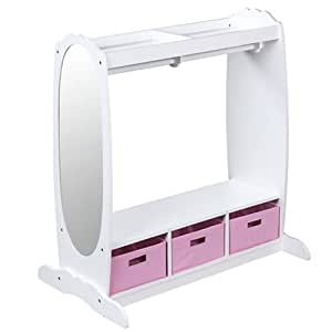 Amazon Com Guidecraft Dress Up Storage Center White