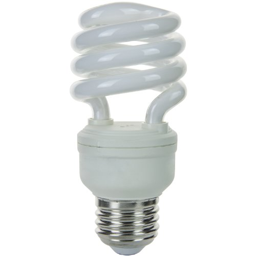 Sunlite SMS13/41K SMS13/41K 13-watt Super Mini Spiral Energy Saving Medium Base CFL Light Bulb, Cool -