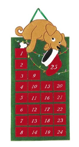 C & F Enterprises Dog Fabric Countdown Advent Calendar C&F Enterprises