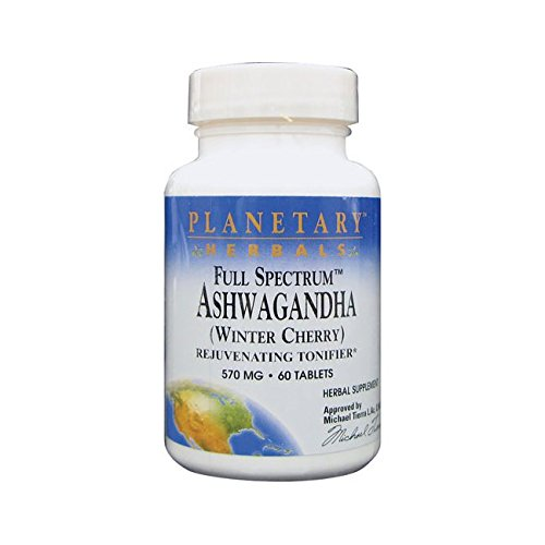 Planetary Herbals Full Spectrum Ashwaganda Tablets, 60 Count