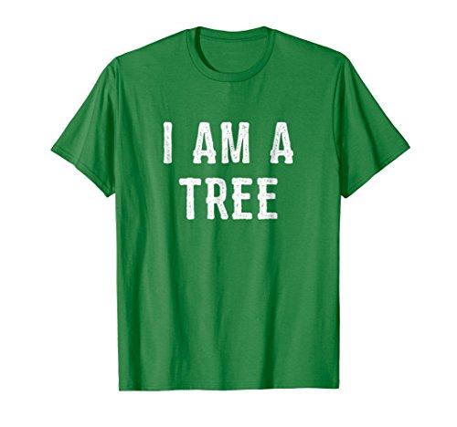 Mens I Am a Tree Halloween Shirt Funny Easy Costume Idea Medium Kelly Green