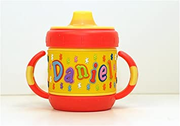 3e6ed9f9160 Amazon.com : Personalized Sippy Cup: Daniel : Baby Drinkware : Baby
