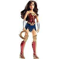 DC Comics FDF35 - Muñeca de 12 pulgadas preparada para la batalla de la Mujer Maravilla con lazo de la verdad - Figura de la Liga de la Justicia