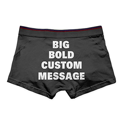 Man's Personalized Bold Font Messag Boxer Brief Underwear