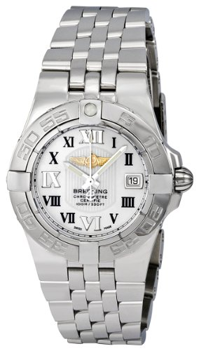Breitling Women's A71340L2-A687SS Galactic 30 Mother-Of-Pearl Dial Watch