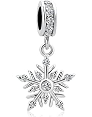 Charmed Craft Dangle Snowflake Charm for Bracelets & Necklaces