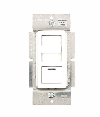 600va Magnetic Low Voltage Dimmer (Leviton IPM06-1LZ IllumaTech 600VA/450W Magnetic Low Voltage Dimmer, Single Pole and 3-Way, White/Ivory/Light Almond)