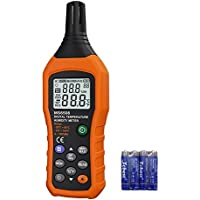 VLIKE Digital Temperature Humidity Meter Portable Hygrometer Thermometer Ambient Temperature Dew Point Test Wet Bulb Temperature Humidity Monitor Gauge Daily Life Industry Agriculture
