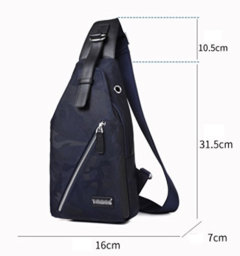 Canvas Small Fashion Oxford Chest Casual Camouflage Shoulder Bag F Men's Cloth Backpack Messenger 6x6nqUEaw8