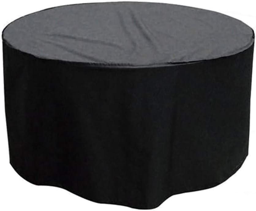 zhxinashu Cubierta de Muebles Redonda Grande - Protector para Sofá Jardín Impermeable con Funda para Sillas Mesa Patio Resistente Duradero (Negro,77 * 58 cm)