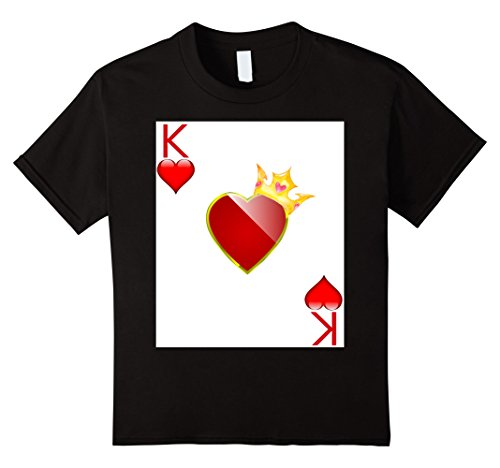 King Of Hearts Costume Kids (Kids Halloween Costume TShirt Couple Great King Queen Hearts 4 Black)