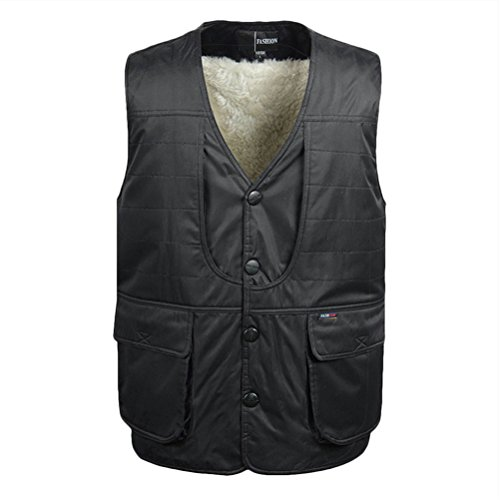 Warm Button Zhhlinyuan Coats Hunting de Cycling de Mens los Photography Fishing negro ropa Men's hombres Waistcoat Jackets Winter Vest deporte aqvd4Zc8qw