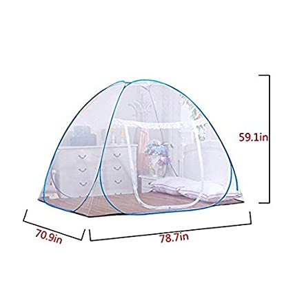 YOSIL Pop up Mosquito Nets Bed Free Installation Folding Nets Tent Canopy Curtains Home Bedroom Babies Toddlers Kids Adult Travel Prevent Dengue 59.0578.7459.05inch
