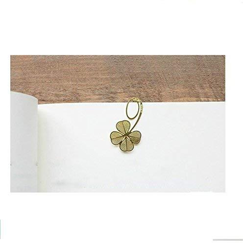 Ogquaton Segnalibro in metallo di trifogli di erba cava della novit/à oro resistente e pratico