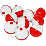 JSHANMEI Fishing Bobbers Hard ABS Snap-on Floats Red & White Push Button Round Float Bobbers Fishing Tackle Accessories