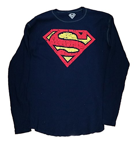 DC Comics Superman Logo Thermal Graphic T-Shirt - Medium (Super Logo Graphic Tee)