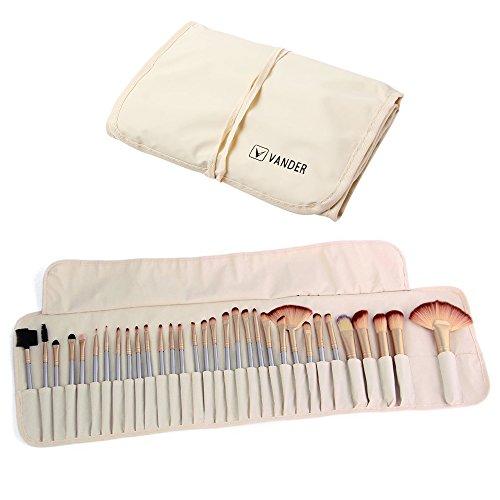 Vander Makeup brushes Set With Case Bag-32 Piece (32 Set Beauty Makeup Piece)
