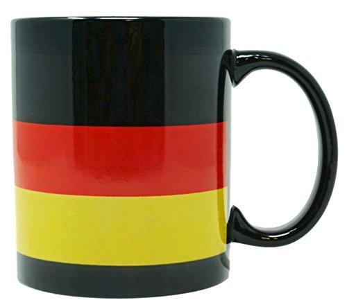 Funny Guy Mugs German Flag Ceramic Coffee Mug, Black, 11-Ounce