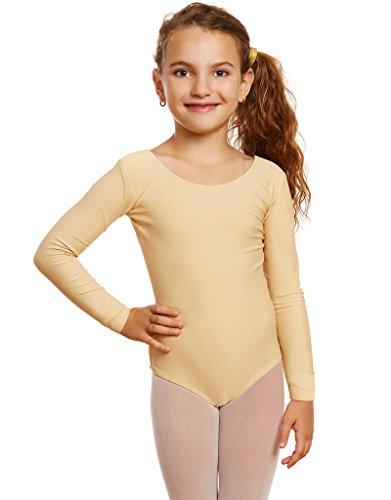 d65321f69 Leveret Girls Leotard Basic Long Sleeve Ballet Dance Leotard (2T-14 ...