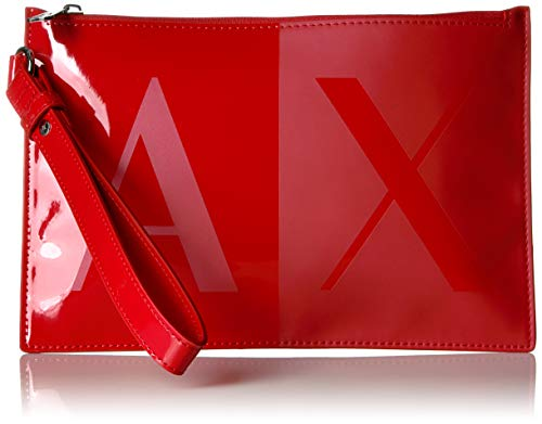 (A|X Armani Exchange Two Tone Pouch, red)